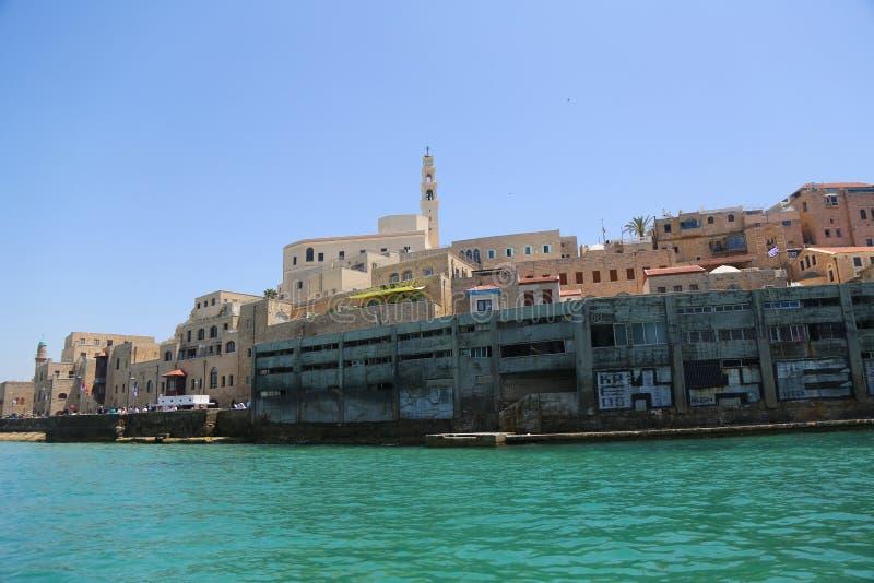 Porto di Giaffa sul mar Mediterraneo, situato nella vecchia città di Giaffa, Israele fotografia stock