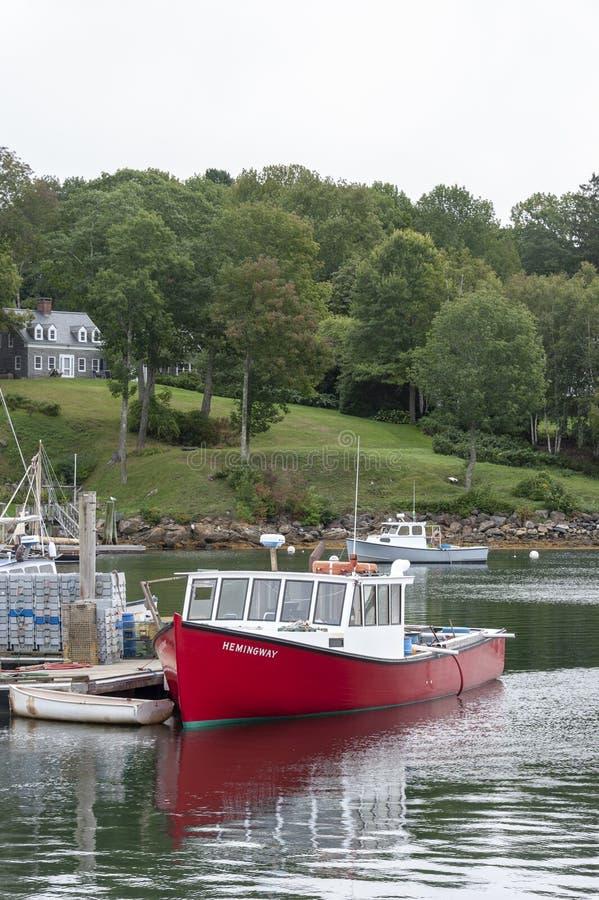 Porto di Hemingway della barca dell'aragosta immagine stock