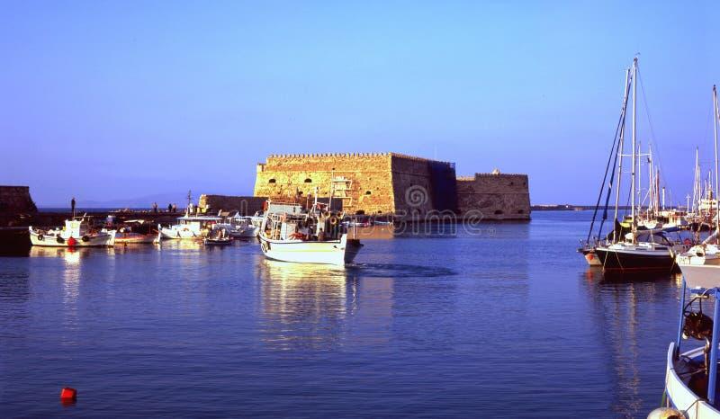 Porto di Heraklion, Crete immagine stock