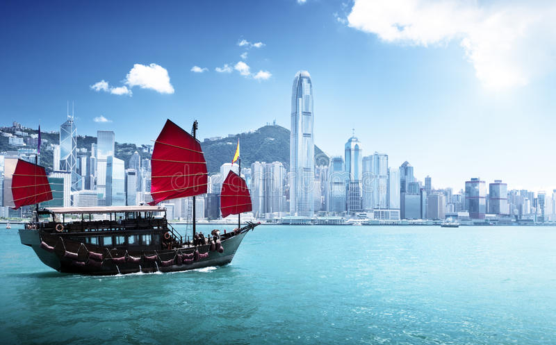 Porto di Hong Kong fotografia stock libera da diritti