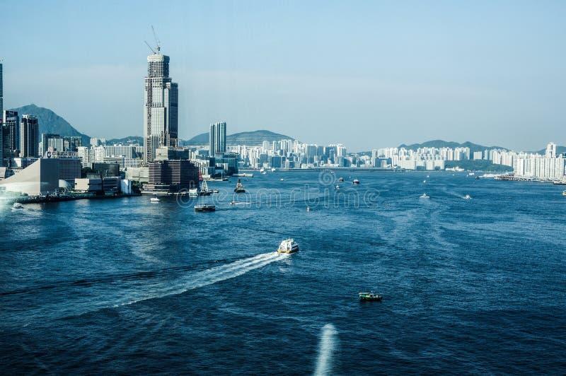 Porto di Hong Kong Victoria fotografia stock