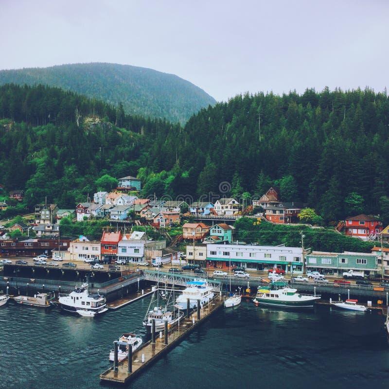 Porto di Ketchikan nell'Alaska immagine stock libera da diritti
