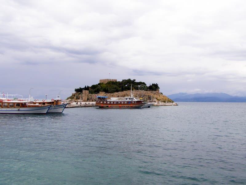 Porto di Kusadasi, costa egea della Turchia immagine stock libera da diritti