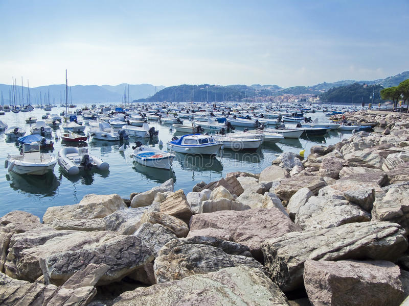 Porto di Lerici. La Spezia. La Ligurie. l'Italie. image stock