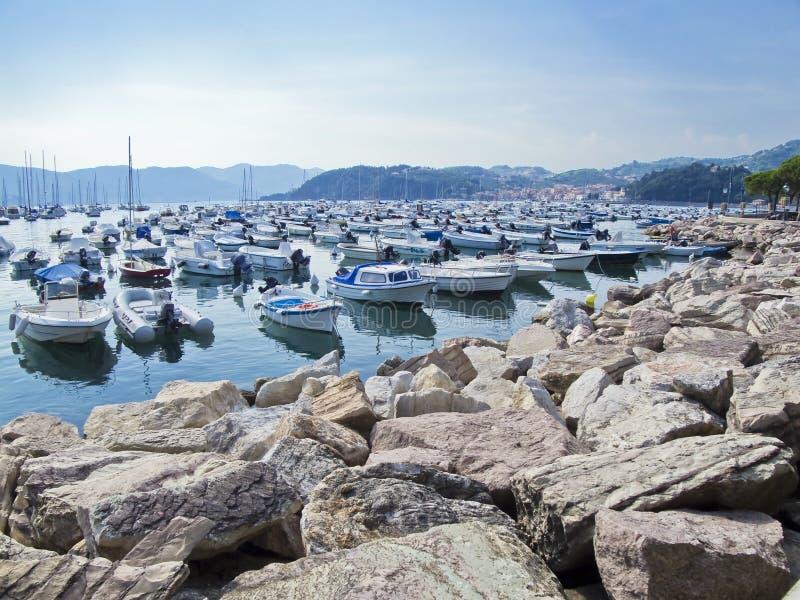 Porto Di Lerici. La Spezia. Ligurië. Italië. stock afbeelding