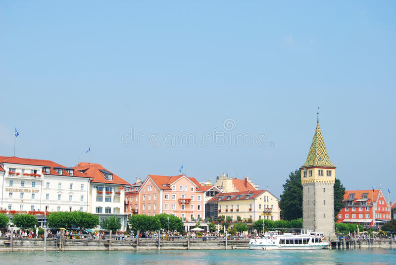 Porto di Lindau immagine stock libera da diritti
