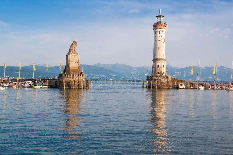 Porto di Lindau immagini stock