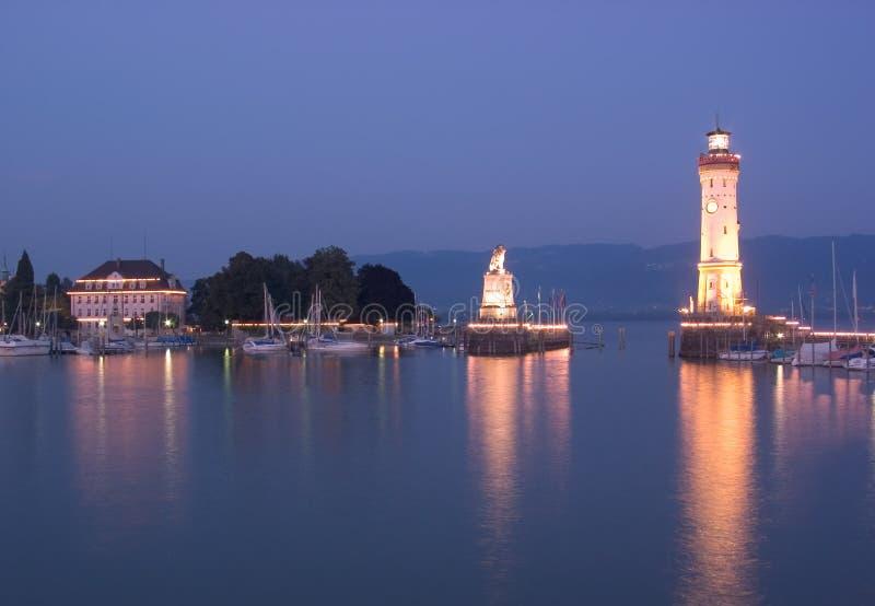 Porto di Lindau immagini stock libere da diritti