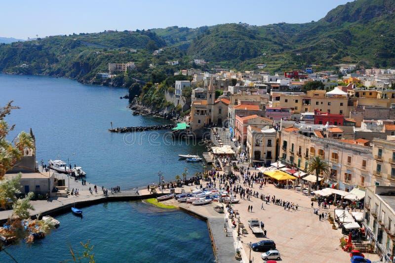 Porto di Lipari fotografie stock libere da diritti