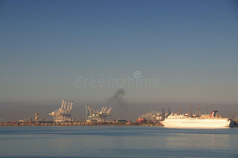 Porto di Long Beach fotografie stock
