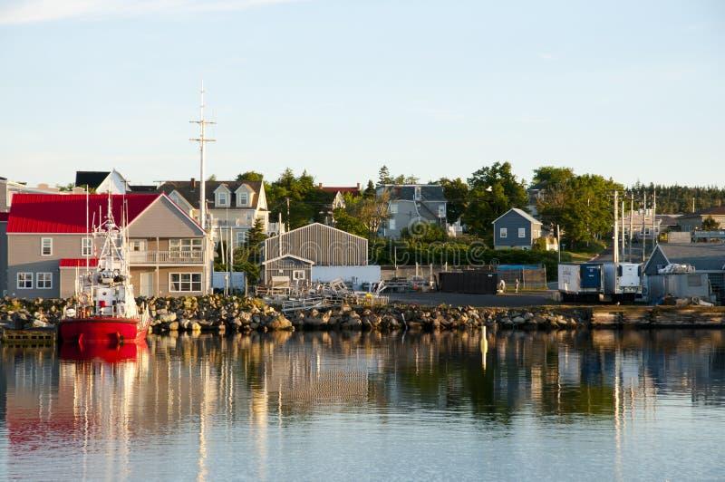 Porto di Louisbourg - Nova Scotia - Canada immagini stock