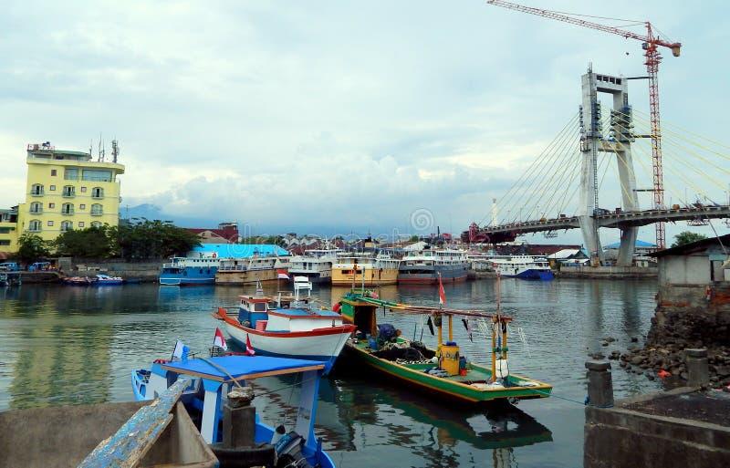 Porto di Manado fotografie stock libere da diritti