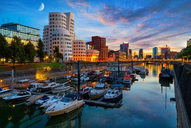 Porto di media di Dusseldorf immagine stock