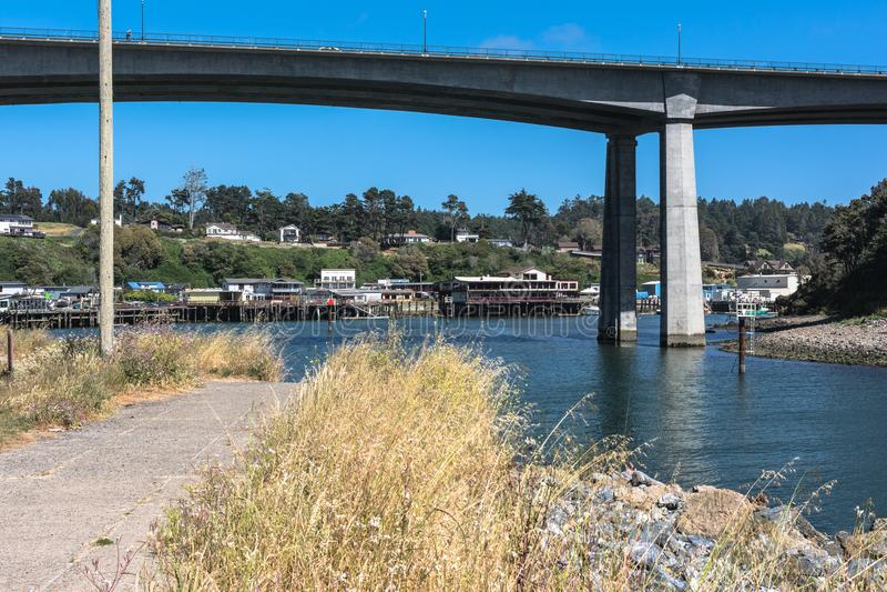 Porto di Noyo, Fort Bragg, California; fotografia stock libera da diritti