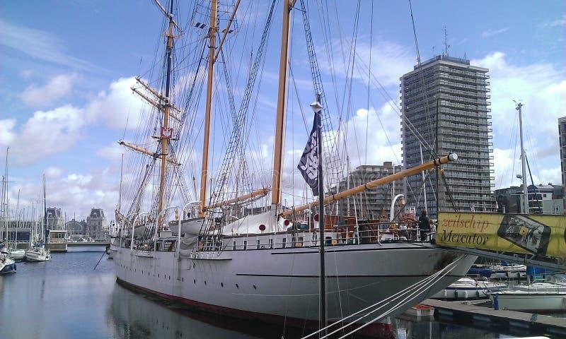 Porto di Ostende immagini stock libere da diritti