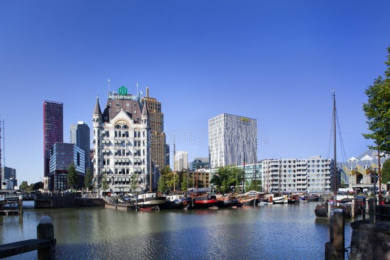 Porto di Oude a Rotterdam fotografia stock libera da diritti