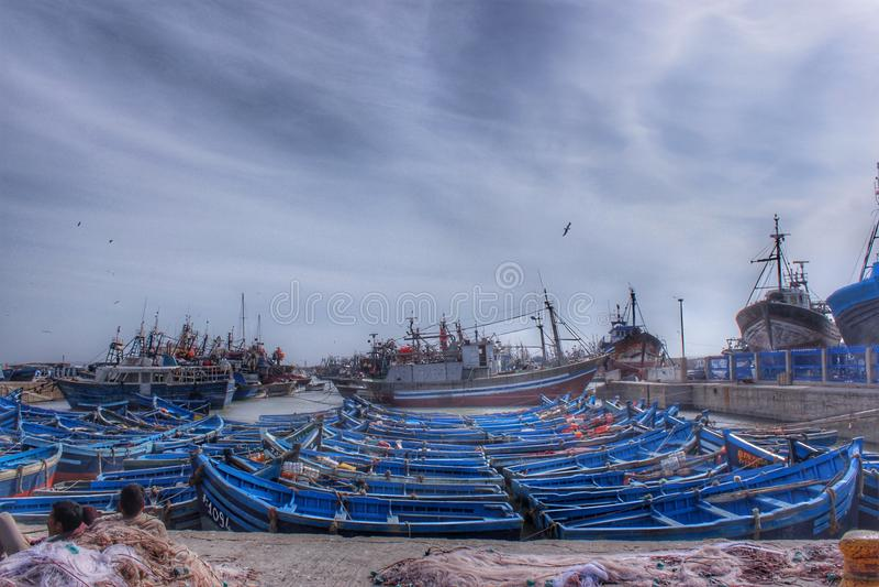 Porto di pesca di Essaouira fotografia stock libera da diritti