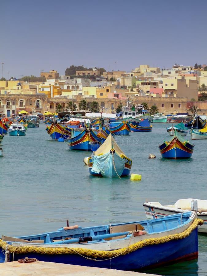 Porto di pesca di Malta fotografie stock libere da diritti