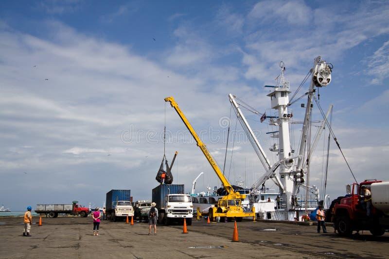 Porto di pesca in manta, Ecuador fotografia stock libera da diritti