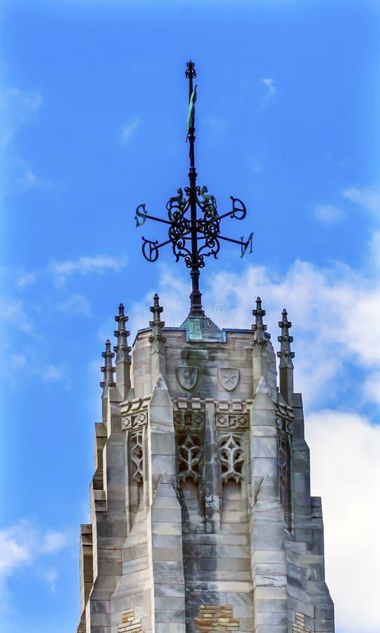 Porto di pietra Connecticut di Yale University Sterling Library New della torre immagine stock