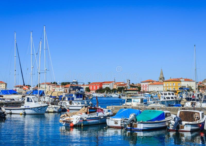 Porto di Porec, Croazia immagini stock libere da diritti
