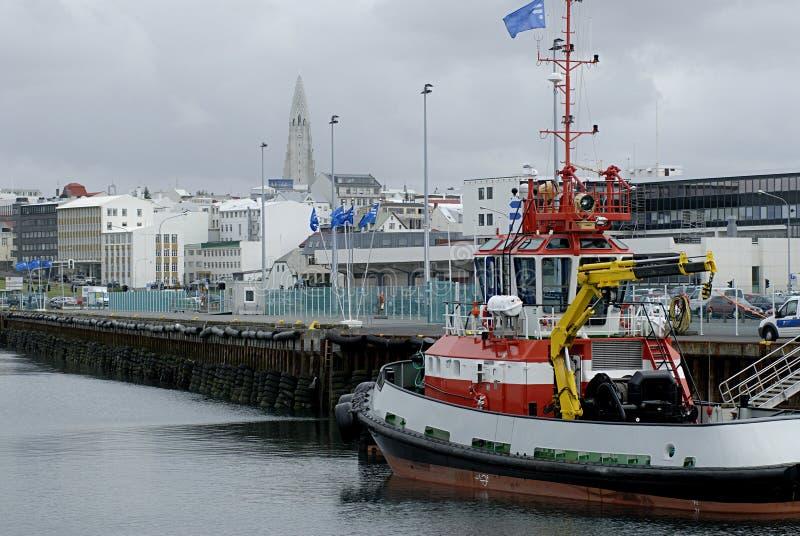 Porto di Reykjavik fotografia stock