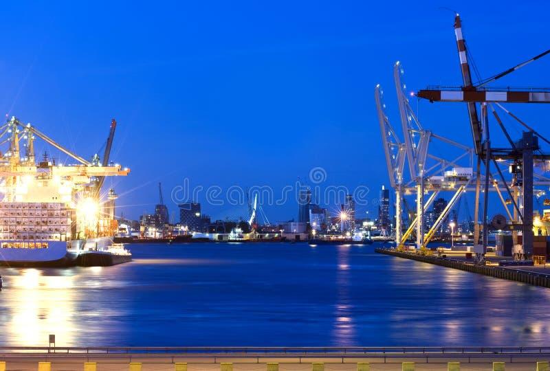 Porto di Rotterdam fotografie stock