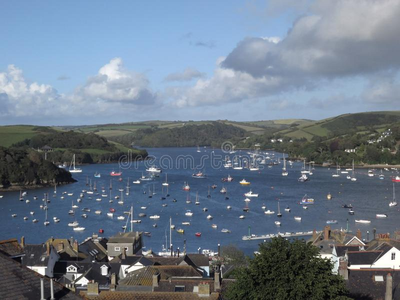Porto di Salcombe, Devon, Regno Unito fotografie stock