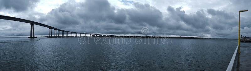 Porto di San Diego al crepuscolo immagine stock libera da diritti