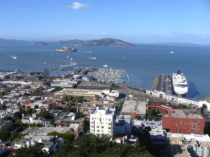 Porto di San Francisco fotografia stock libera da diritti