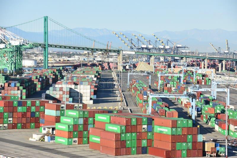 Porto di San Pedro a Los Angeles, California fotografie stock