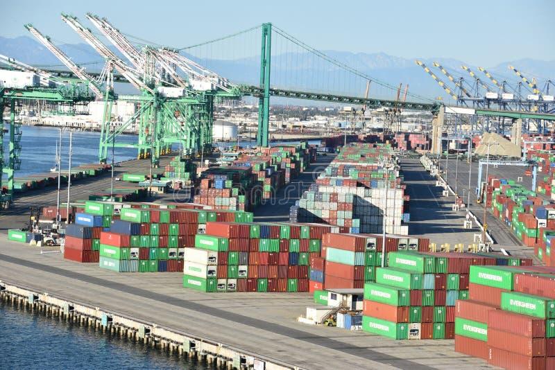 Porto di San Pedro a Los Angeles, California immagine stock libera da diritti