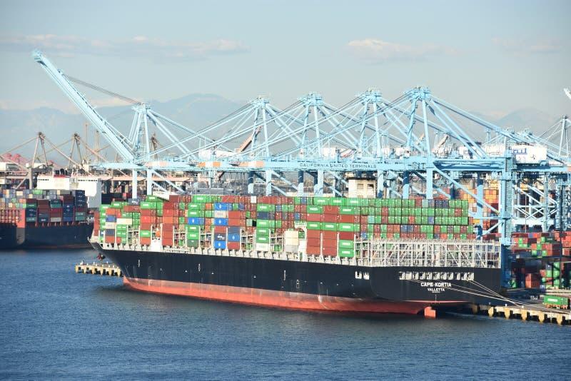 Porto di San Pedro a Los Angeles, California immagine stock