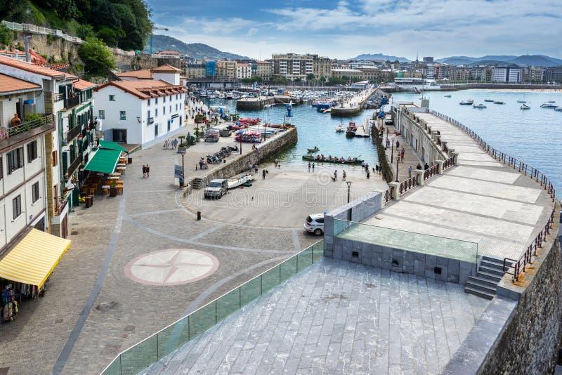 Porto di San Sebastian fotografie stock libere da diritti