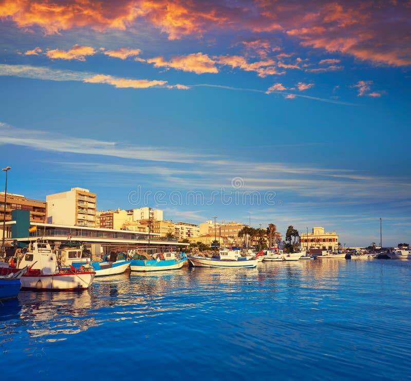 Porto di Santa Pola in Alicante Spagna immagine stock libera da diritti