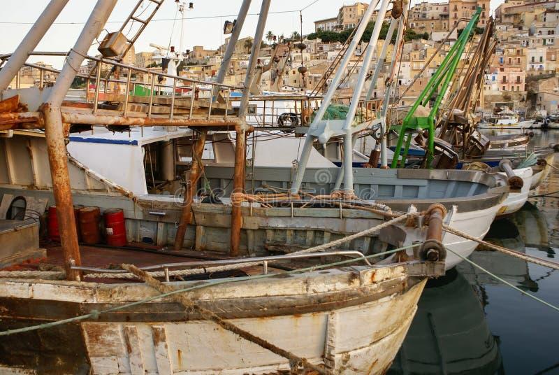 Porto di Sciacca, Sicilia fotografia stock
