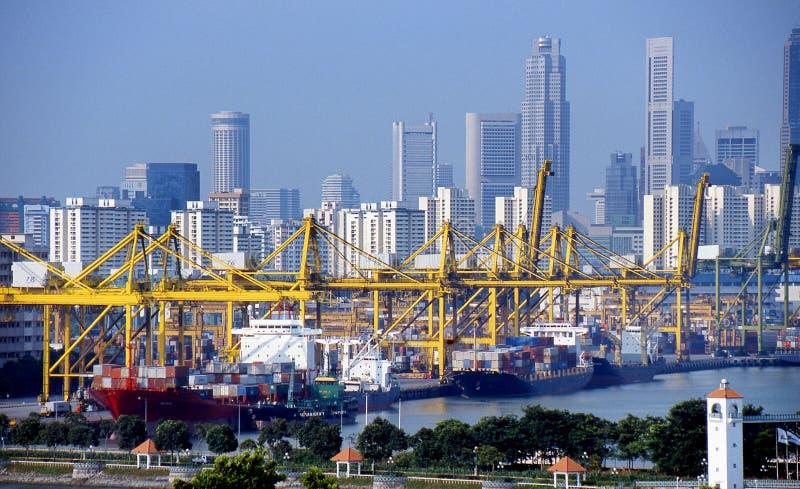 Porto di Singapore immagini stock libere da diritti