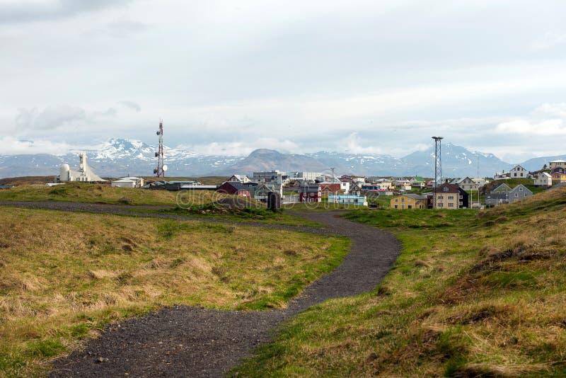 Porto di Stykkisholmur, penisola di Snaefellsnes, Islanda fotografie stock