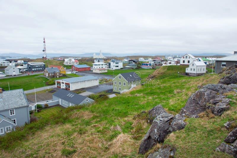 Porto di Stykkisholmur, penisola di Snaefellsnes, Islanda immagini stock