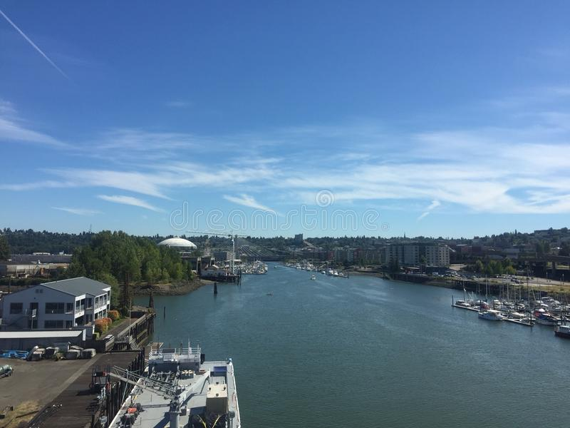 Porto di Tacoma immagine stock libera da diritti