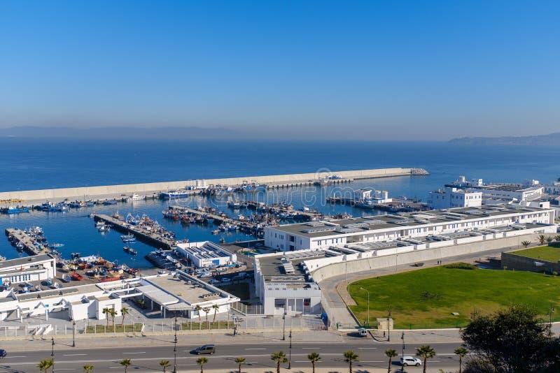 Porto di Tangeri nel Marocco fotografia stock libera da diritti