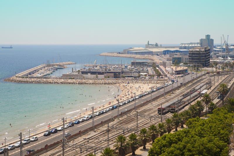 Porto di Tarragona immagine stock