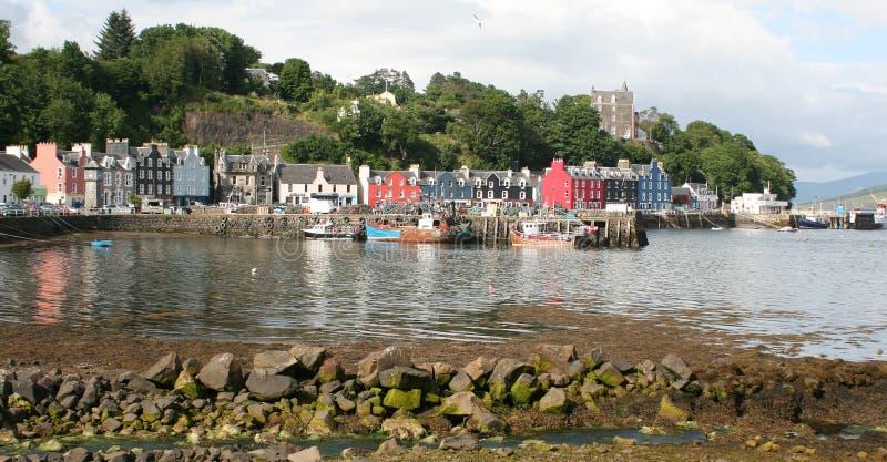 Porto di Tobermory sull'isola Mull fotografia stock libera da diritti