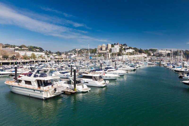 Porto di Torquay & Marina Devon England Regno Unito immagini stock libere da diritti
