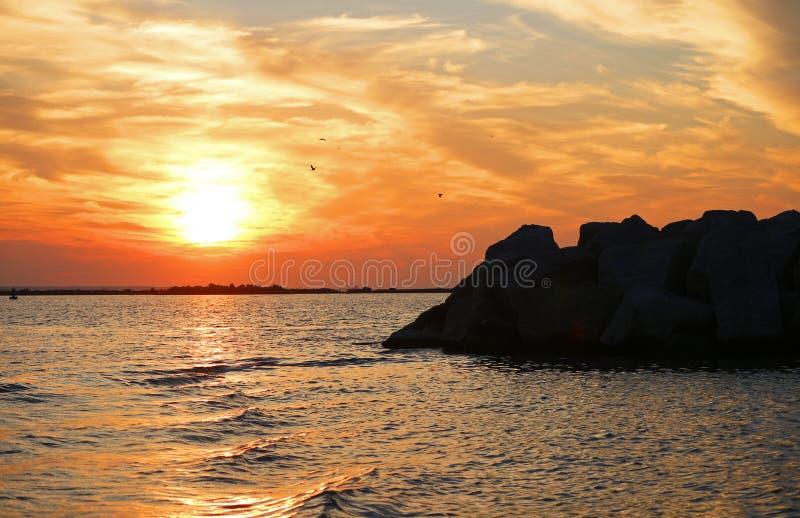 Porto di tramonto fotografie stock