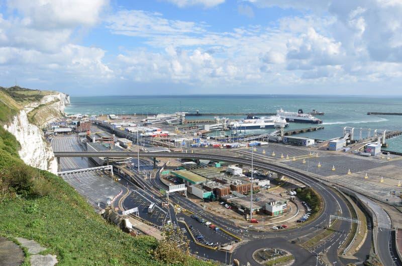 Porto di trascuratezza di Dover Harbour Channel immagini stock libere da diritti