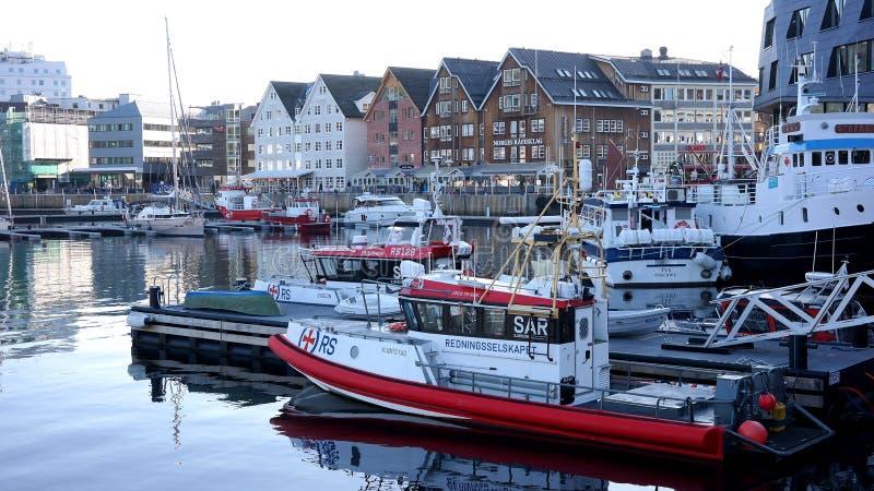Porto di Tromso fotografia stock libera da diritti