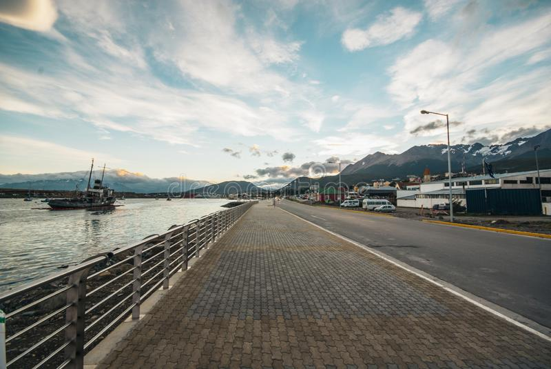Porto di Ushuaia del naufragio fotografie stock
