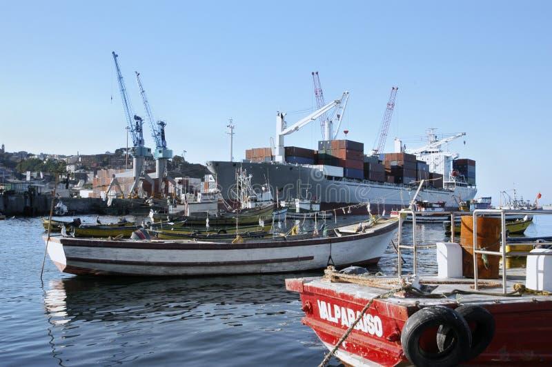 Porto di Valparaiso, Cile immagine stock