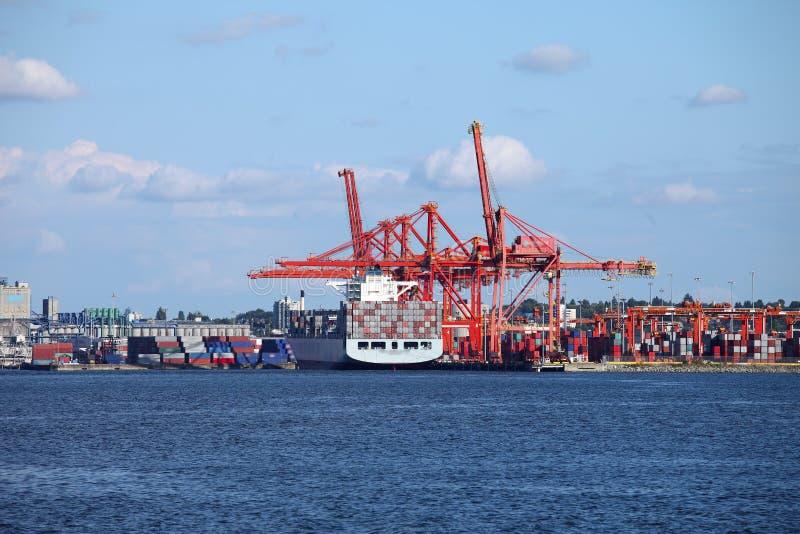 Porto di Vancouver BC Canada. immagini stock